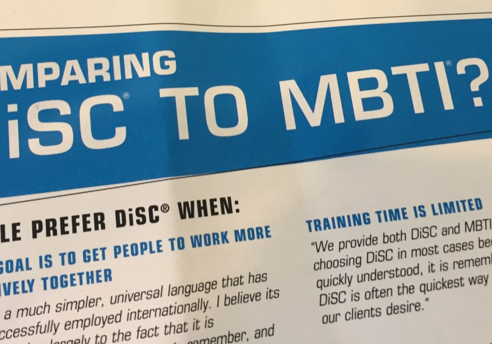 Comparing DiSC and Myers-Briggs (MBTI)